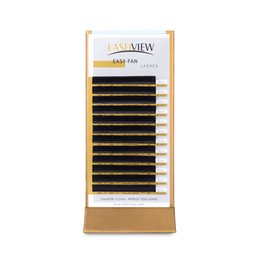 eyelash curling NZ - LASHVIEW 1S Faux Mink Fast Fan Eyelash Extensions 0.07mm Thickness D Curl 8-15m Mix Tray Soft Silk Individual