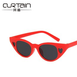 $enCountryForm.capitalKeyWord UK - CURTAIN Lovely Kids Sunglasses For Girls Small Heart Frame Cat Eye Summer Girls Beach Goggles Women Hollow UV400 Plastic Glasses