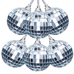 christmas stage decor NZ - 6pcs lot 5cm Christmas Balls Mirror Ball Stage Reflective Ball Hotel Bright Mall Holiday Decoration Christmas Tree Decor