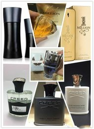 Box Brand Glasses NZ - Top quality with all of the Luxury brand man woman Perfume parfumes Fragrances Aventus creed Million Lasting Health Fragrance Gifts With box