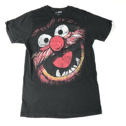 Painting Faces UK - The Muppets Animal T Shirt Mens S Face Paint Graphic Black Men Women Unisex Fashion tshirt Free Shipping