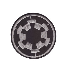 $enCountryForm.capitalKeyWord Australia - Computer embroidery Galactic Empire Military Imperial Cog Embroidered Iron On Patch Bc 10pcs lot Stickers Appliques