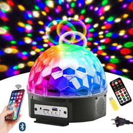 $enCountryForm.capitalKeyWord Australia - Bluetooth Disco Ball Lights 9 Colors LED Party Lights DJ Sound Activated Rotating Lights with Remote for Home KTV Wedding Club Dance Show
