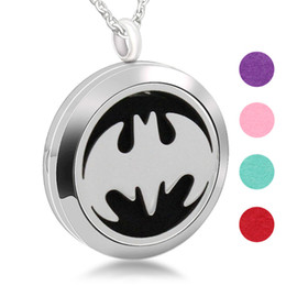 Batman Pendants Australia - Aromatherapy Stainless Steel Charm Batman Accessories Personality Perfume Diffuser Pendant