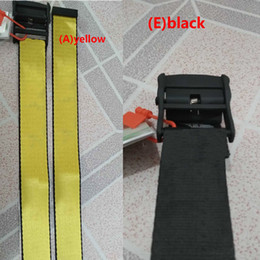 Wholesale 2019 new brand fashionable high quality canvas belt men leisure golden yellow belt well-made Canvas men women belts 200cm