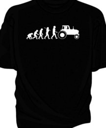 Farming tractors online shopping - Evolution of Man classic tractor t shirt Farm tractor Funny Unisex Casual Tshirt top