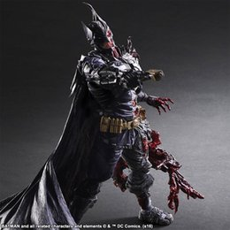 red batman figure Australia - wholesale Play Arts KAI Figure Batman Rogues Gallery Two-Face Double Face Batman Doll PVC Action Figures Collectible Model Toys