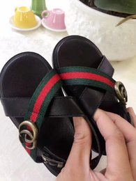 Discount open baby sandals - child new summer Ribbon Children's shoes Boy Girl Europe and America fashion sandals motion Open toe baby sandals