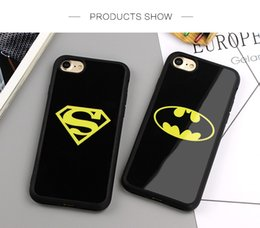 Superman Iphone 5s Case Australia - YunRT Mirror Superman Batman Case For iPhone 7 Plus 6 6s 8 Plus X Cases Back Cover For iPhone 6S 5 5S SE Covers Fundas Coque