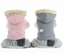 large feet 2019 - Winter Warm Pet Dog Coat High-grade Knitting Wool Four Feet Dog Clothes Fashion Puppy Kitten Apparel cheap large feet