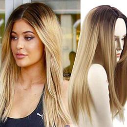 $enCountryForm.capitalKeyWord Australia - Dyeing Long Curly Hair Cosplay Gray Gradient Anime New Female Chemical Fiber Wig Rose Net Wigs Bangs long straigh wig