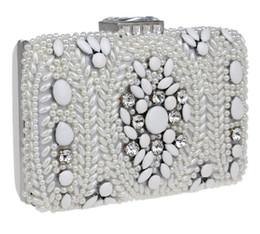 $enCountryForm.capitalKeyWord Australia - Dinner bag handmade beaded diamond ladies bag Evening Clutch Wedding Party Purse Case Box Clutch Bridal Wallet