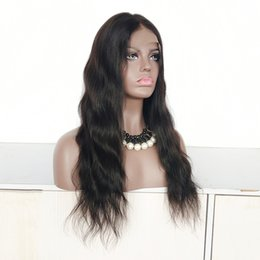 Indian Full Lace Wigs Human Hair NZ - 20 Inch Natural Color Brazilian Hair Full Lace Wig 150% Density , Natural Wave Indian Remy Human Hair Lace Front Wig in Stock!