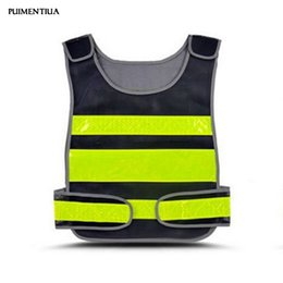 safety work clothing NZ - Puimentiua 2019 High Visibility Reflective Vest Road Working Clothes Cycling Sports Outdoor Reflective Safety Clothing Tops