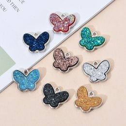 10PCS / Lot Schmetterlings-Anhänger Buntes Charm Kleintier Mode-Entdeckungen DIY Schmuck Zubehör für Frauen zu machen im Angebot