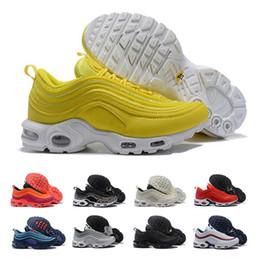 ba1967182bd64 97 Plus Shoes Yellow Black 97 OG Running Shoes Women Mens Black White Trainer  Sneakers Cushion Breathable Men Walking Sports Shoes