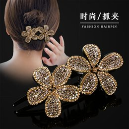 Crystal Plastic Hair Clip Australia - New Hair clamps barrettes favorite Hair clips Hot sales clamps full crystal rhinestone free DHL Fashion Luxury Jewelry for girl women