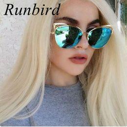 modern sunglasses 2019 - Wholesale Vintage Modern Cat Eye Sunglasses Women Metal FrameMirror Flat Pantos Shape Rose Gold Sun Glasses Oculos de so