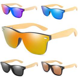 Designer bamboo sunglasses online shopping - Brand Designer Vintage Bamboo Sunglasses Wood Legs Polarized Sun Glasses Women Men Teenagers Beach Outdoor Sports Color Film Glasses A52903