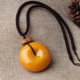 long decorative chains NZ - Cotton and linen clothes with necklace female imitation beeswax pendant simple sweater chain long paragraph wild decorative pendant accessor