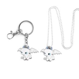Hidden toy online shopping - New cm Charm Toothless Keychain the Hidden World Metal White Night Fury Pendant Key Holder How To Train Your Toy