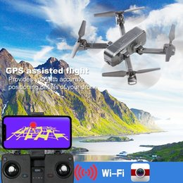 gps follow me drone Australia - SJRC Z5 Quadrocopter with HD 720P 1080P GPS Camera Drone 2.4G 5G Wifi FPV Altitude Hold Follow Me Mode Helicopter vs Visuo XS812 T191016