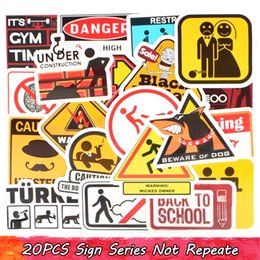 $enCountryForm.capitalKeyWord NZ - 20 PCS Waterproof Warning Road Computer Warning Sign Stickers Car Home Decoration Child Adults DIY Computer Water Cup Racket Creative Gifts