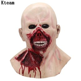 $enCountryForm.capitalKeyWord Australia - Hot New Fun Halloween Horror Mask Zombie Masks Party Cosplay Bloody Disgusting Face Scary Masque Masquerade Mascara Terror Masker Latex