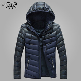 mens green parka NZ - Winter Jackets Men Hat Detachable Warm Parka Cotton-Padded Outwear Mens Coats Hooded Slim Brand Clothes Male Jacket Parkas M-3XL