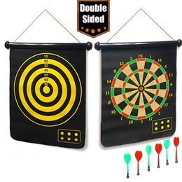 $enCountryForm.capitalKeyWord Australia - 12 17 inch Tournament Amusement Magnetic Dart Board Indoor Game Double-sided Darts with 6 Safety Dart Needle for Kid Training