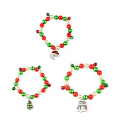 Wholesale Alloy Charm Beads Bracelets Merry Christmas Santa Claus Tree Snowman Fashion Bracelet Popular Hot Selling In Europe And America cya J1
