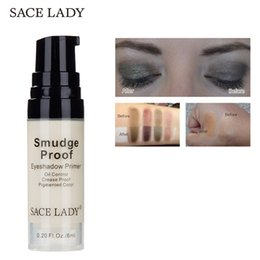$enCountryForm.capitalKeyWord Australia - SACE LADY 6ml Crease Smudge Proof Pigments Eyes Primer Base Concealer Oil-control Pores Cover Brand Liquid Eyeshadow Primer Gel Makeup Base