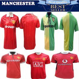77ea78e27a8 Cantona 93 94 Man Beckham Soccer Jersey 1994 Retro UTD Soccer jersey  Classic Football Shirt Giggs Home Red 2002-2003 United Maillot de Foot