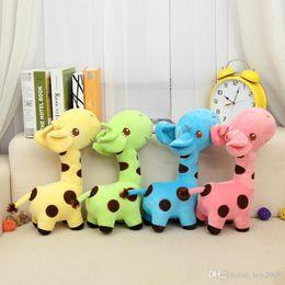 $enCountryForm.capitalKeyWord Australia - 35cm Cute Baby Toys Rainbow Giraffe Plush Toys Dolls For Kids Brinquedos Kawaii Gift For Baby Christmas Gifts kids toys