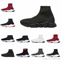 Best Designer Sandals Australia - best Sock Shoes Casual Shoe Speed Trainer High Quality Sneakers Speed Trainer Sock Race fashion luxury mens women designer sandals shoes