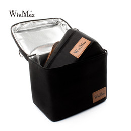 $enCountryForm.capitalKeyWord NZ - Winmax Picnic Bag Insulated Thermo Cooler 2 sets pizza Cakes delivery black Bags Box Thermal Bags for Food basket Tote Handbags