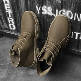 $enCountryForm.capitalKeyWord Australia - High Quality Genuine Leather Winter Waterproof Ankle Boots Riding Boots Outdoor Working Snow Boots Men Shoes Sizes 38-46