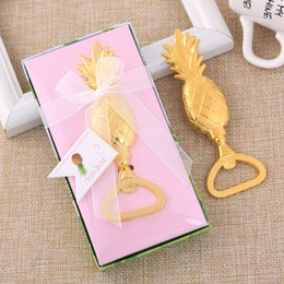 100pcs lot New Creative Gold Pineapple Beer Bottle Opener Wedding Party  Favours Events Gifts 71dbb9697b2f