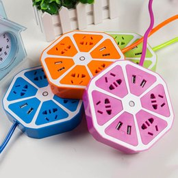 $enCountryForm.capitalKeyWord Australia - Fruits Design 4 USB Plug AC Power Socket Charging Cable Extension Adapter Socket Home Supplies SIR Shop