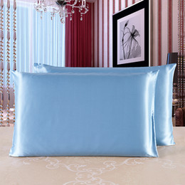 momme silk 2019 - Silk Pillowcase High Quality Both Sides 100% Pure Mulberry Silk Soft Comfortable 19 Momme Pillow Case 50*75 Cm10 discoun
