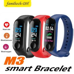 $enCountryForm.capitalKeyWord Australia - Free shipping New M3 0.96 color screen smart watch bracelet heart rate monitoring information push Bluetooth call reminder sports watch