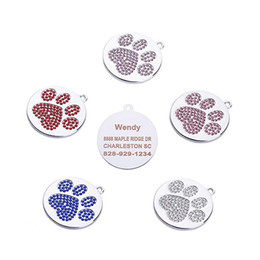 $enCountryForm.capitalKeyWord Australia - Personalized Dog Tags Cat Puppy Pet ID Name Collar Tag Pendant Pet Accessories Bone Glitter Size Diameter 28mm Z622