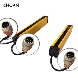 infrared photoelectric sensor Australia - CHOAN GM2004T 4 beams 20MM Safety Grating Light Curtain Photoelectric Protector Infrared Area Sensor Dangerous Machine Switch DC 24V relay