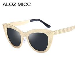 Discount eyeglass frames cat women - ALOZ MICC New Women Cat Eye Sunglasses High Quality Metal Frame SunGlasses Women Vintage Shade Unisex Eyeglasses A476