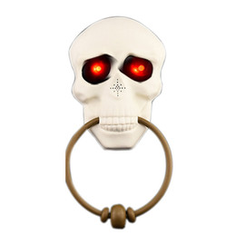 ghost toys 2019 - Halloween Horror Doorbell Ghost Festival Skeleton Toys Haunted House Party Supplies Shining Skeleton Head Prop cheap gho