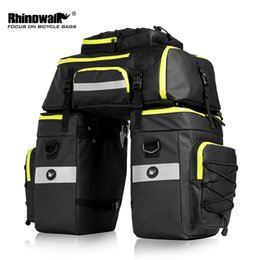 bicycle panniers rear Canada - RHINOWALK 75L MTB Bike Rear Seat Trunk Bag 3 in 1 Multifunction Bicycle Pannier Waterproof Double Side Cycling Luggage Pannier