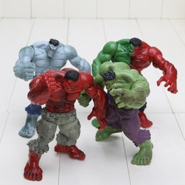 Red Hulk Figures Australia - 4pcs set 12cm Avengers 2 Hulk Compound Red Grey Green Pvc Action Figure Model Toys C19041501