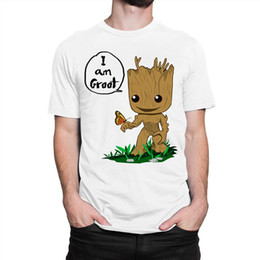 5c25de7f Baby Groot T-shirt, Guardians of the Galaxy Men's Women's All sizes New  Short Sleeve Round Collar Mens T Shirts Fashion 2018