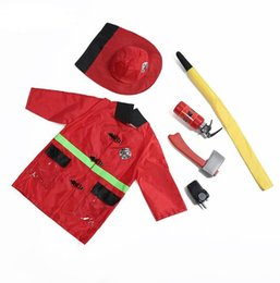 $enCountryForm.capitalKeyWord UK - Kids Fire Chief Theme Costume Halloween Cosplay Fireman Dress Up Set Fire Fighter Outfit Pretend Role Play Firefighter for 3-7 Y child