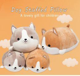 Dog Gifts For Christmas Australia - New Cute Corgi Dog Plush Toy Pillow Stuffed Soft Animal Cartoon Pillow Lovely Christmas Gift For Kids Kawaii Valentine Present